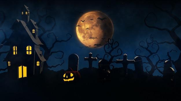 3d-rendering halloween-hintergrund