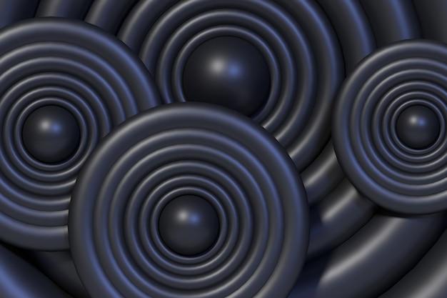 3d-rendering-hintergrundkreis schwarz