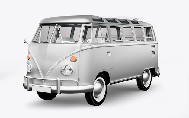 3d-rendering-hippie-bus
