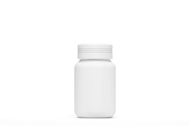 3d-rendering. illustration. flasche kapselmodell isoliert mit weißem hintergrund