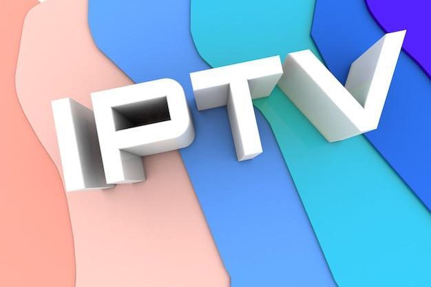 3d-rendering. iptv. online-fernsehsendung. technologiekonzept