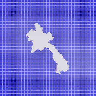 3d-rendering karte laos