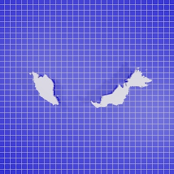 3d-rendering-karte malaysia
