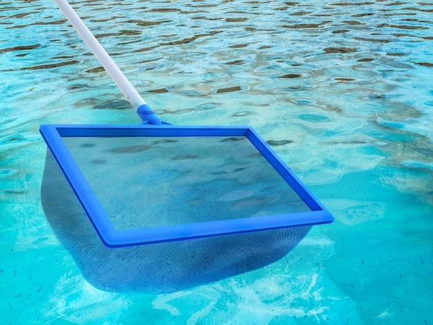 3d-rendering kescher oder fischernetz mit pool