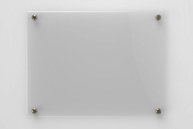 3d-rendering leere glasplatte oder acrylplatte