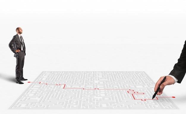 3d-rendering-lösung für das labyrinth