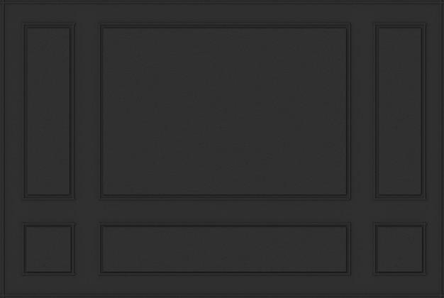3d-rendering. luxus schwarz klassisches holz schimmel muster wand hintergrund.