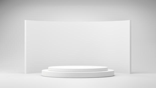3d-rendering minimale leere podiums- oder sockelanzeige und hintergrundblankes produktregal