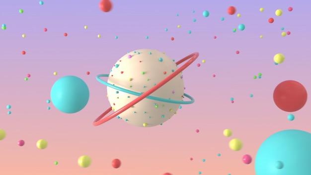 3d-rendering mit abstrakten formen