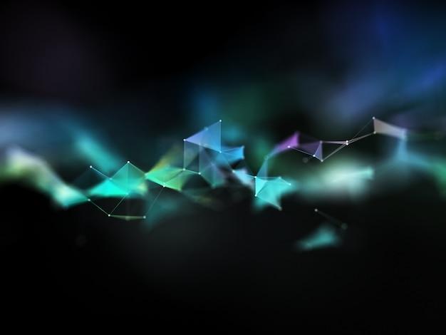3d-rendering mit niedrigem polyplexus-design, geringer schärfentiefe und moderner kommunikation