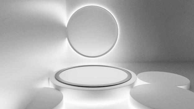 3d-rendering modell bühne renderings abstrakte rendering schwarz und weiß fluoreszierend