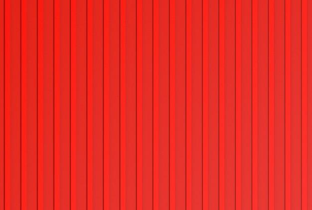 3d-rendering. moderne vertikale rote farbe metallplatte parallele verschluss tür oder container wand textur.