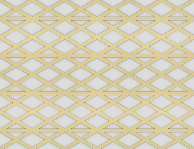 3d-rendering. moderner nahtloser luxuriöser gold-dreieck gitterlinienmuster design-wand-hintergrund.