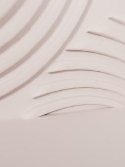 3d-rendering monochrome hautfarbe minimaler geometrischer produktanzeigehintergrund mit plattform