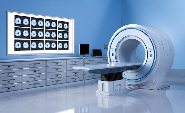 3d-rendering-mrt-scan-gerät oder magnetresonanztomographie-scan-gerät