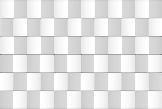 3d-rendering. nahtlose moderne weiße quadratische gitterbox-musterwand-design-textur.