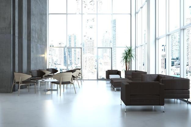 3d-rendering open space office interieur