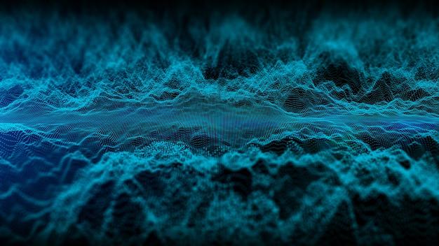 3d-rendering-partikelfluss abstrakter hintergrund
