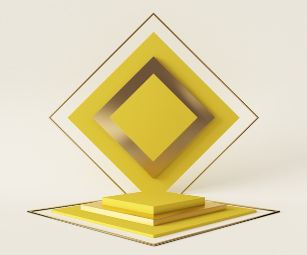 3d-rendering-podiumshintergrund-modellszene. pastellfarbe der abstrakten geometrieform.