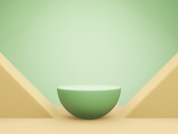 3d-rendering. produktform mit einfacher form
