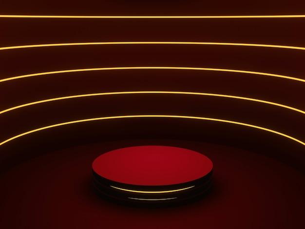 3d-rendering red sci fi-produktständer