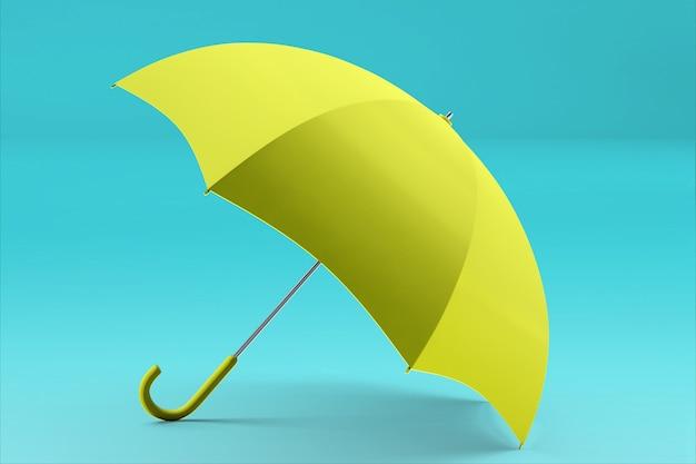 3d-rendering regenschirm vorder- und draufsicht