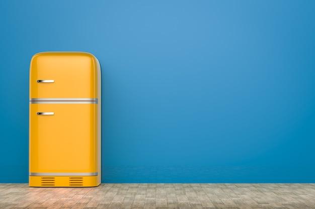 3d-rendering retro-design kühlschrank mit leerzeichen