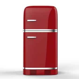 3d-rendering retro-design kühlschrank