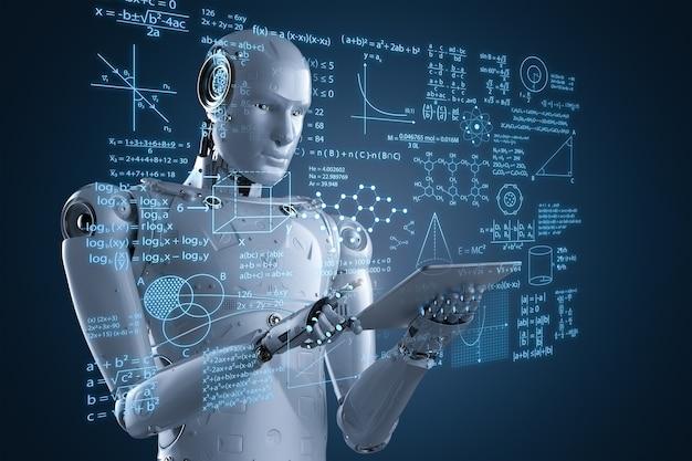 3d-rendering-roboterlernen oder maschinelles lernen mit bildungs-hud-schnittstelle