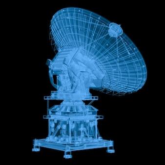 3d-rendering-röntgensatellit isoliert auf schwarz