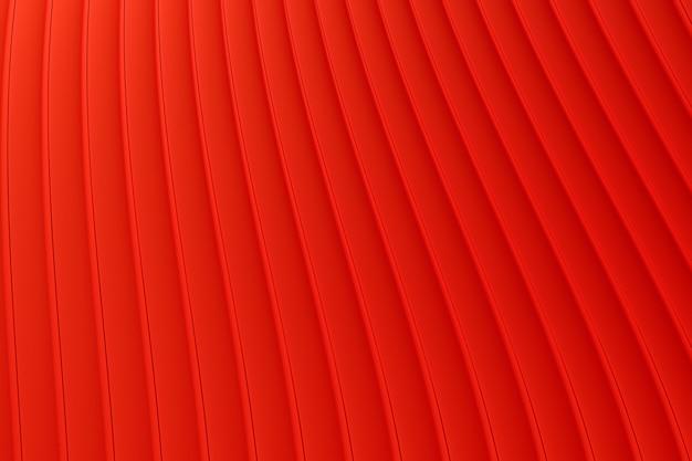 3d-rendering, roter hintergrund der abstrakten wandwellenarchitektur, roter hintergrund für präsentation, portfolio, website