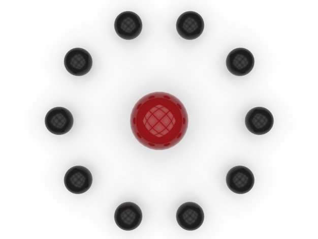 3d-rendering schattierungen der foundation isoliert auf weiß