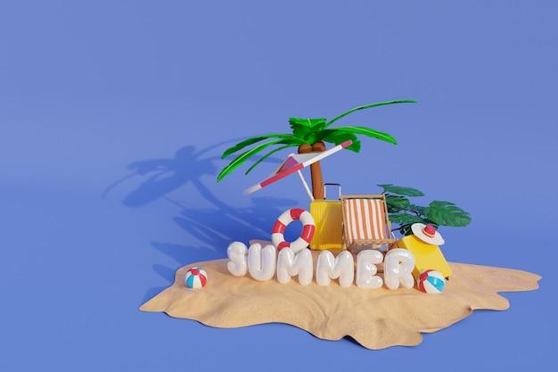 3d-rendering-sommer-illustration