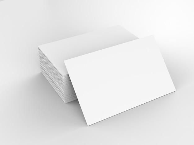 3d-rendering-stapel von leeren namenskarten