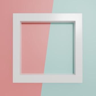 3d-rendering studio shot produktanzeige oder message board rosa und pastellblauer hintergrund
