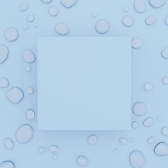 3d-rendering studio shot waterdrops hintergrund für beauty skin care lebensmittel- und getränkewerbung
