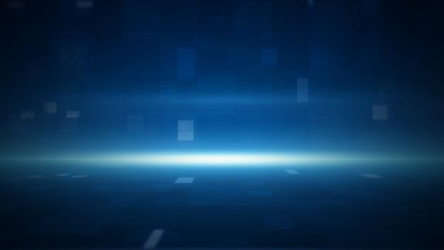 3d-rendering-technologie geometrischer blauer farbzusammenfassungshintergrund