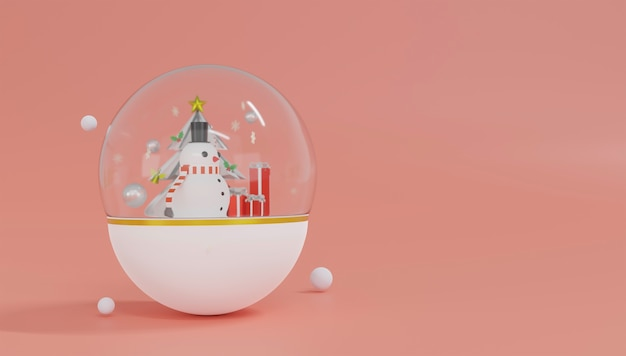 3d-rendering-thema frohe weihnachten und ein gutes neues jahr.