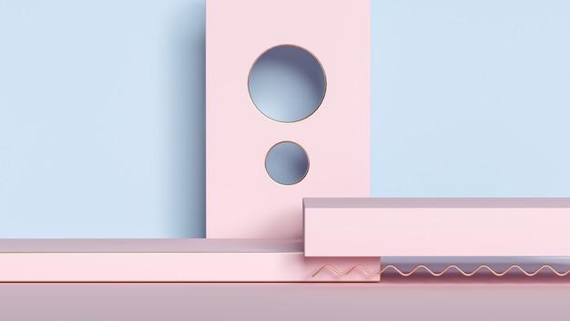 3d-rendering von abstrakten geometrischen formen für produktanzeigen