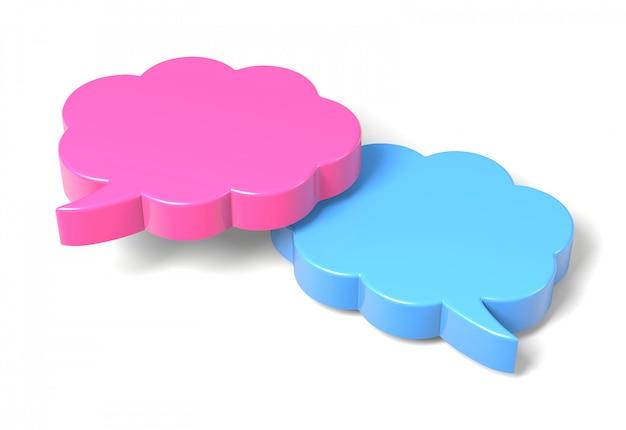 3d-rendering von bunten sprechblasen