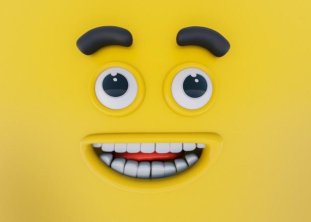 3d-rendering von emotionen