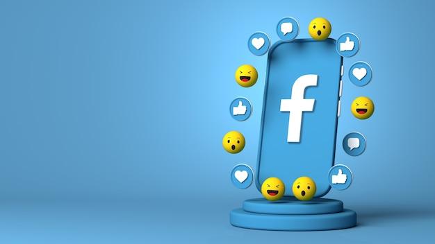 3d-rendering von facebook mit textfreiraum