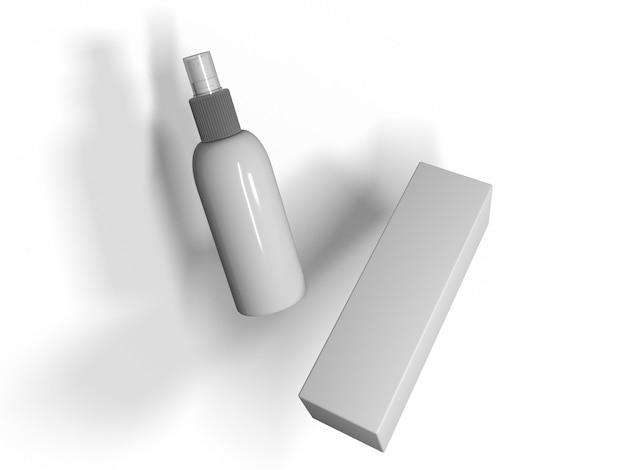 3d-rendering von handreiniger zur covid-desinfektion,