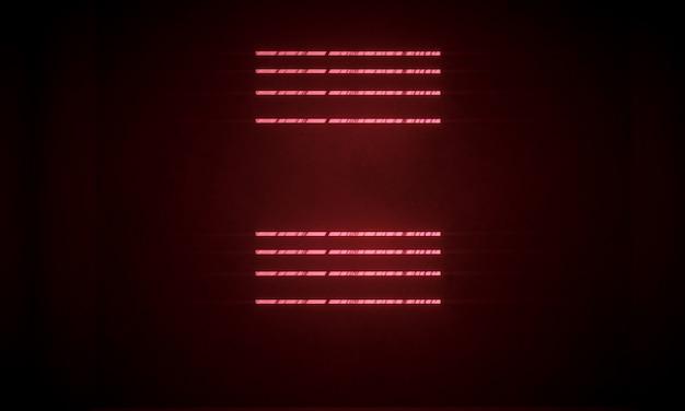 3d-rendering von heller quadratischer form mit leuchtenden wolken auf dem wasser in der nacht