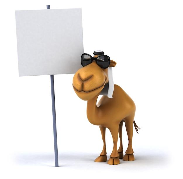 3d-rendering von kamel