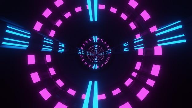 3d-rendering von korridortunneln, abstrakte starttunnel