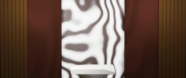 3d-rendering von leerem hintergrundhintergrund für die anzeige von mode- und cremekosmetikdekorationen. moderner podesthintergrund für luxusprodukt.
