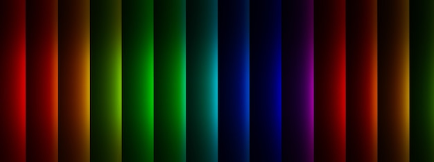 3d-rendering von mehrfarbigen vertikalen linien, hintergrund mit geometrischen elementen