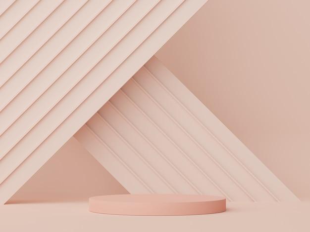 3d-rendering von minimalem display-podium-design für mock-up und produktpräsentation