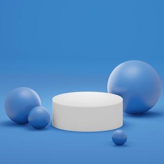 3d-rendering von minimalem hintergrund, mock-up-szene mit podestgeometrieform für die produktanzeige.